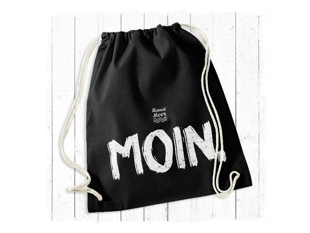 Heimatmeer Moin Gym Bag schwarz Rucksack