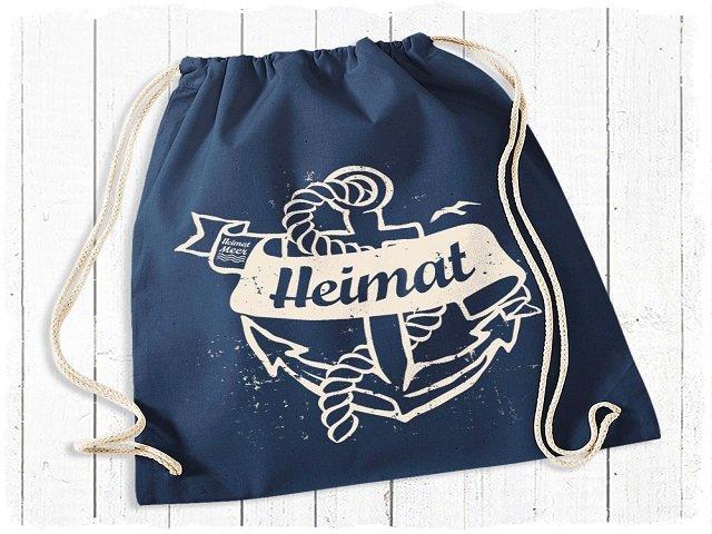 Heimatmeer Gym Bag GYM BAG Heimat blau destroyed Print