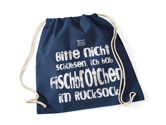 Heimatmeer Fischbrötchen Gym Bag dunkelblau Rucksack
