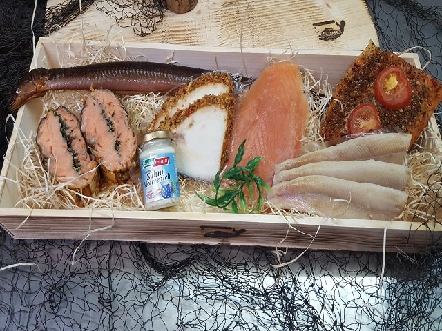 Geschenkkiste Räucherfischkiste Klaassen