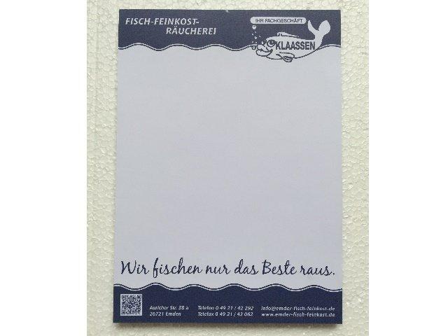 Schreibblock Notizblock DINA5 weiß 50 Blatt