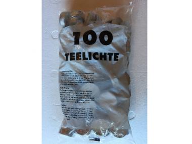 100 Teelichter Wachs weiß