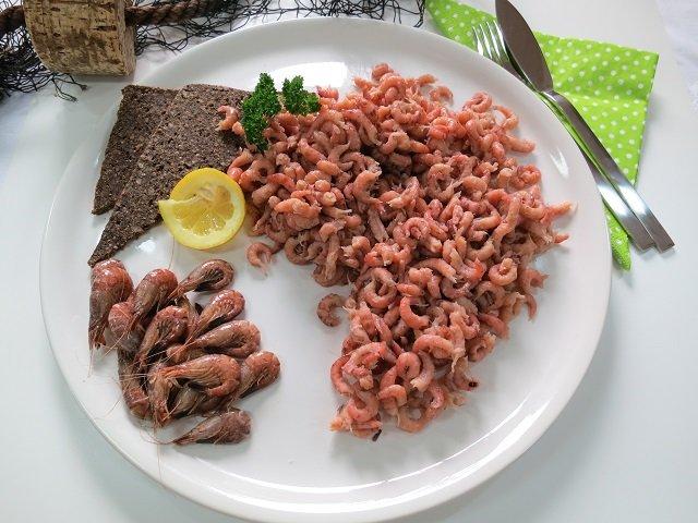 Nordseekrabben (Granat) Krabbenfleisch gepult typisch ostfriesisch