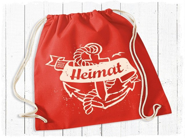 Heimatmeer Gym Bag GYM BAG Heimat rot destroyed Print