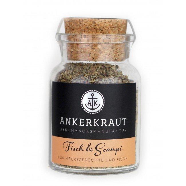 Ankerkraut Fisch & Scampi Trockenmarinade // BBQ-Rub Korkenglas 70g