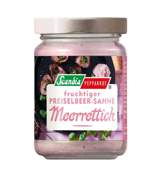 Preiselbeer-Sahne-Meerrettich Scandia 80g Glas
