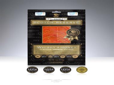 Räucherlachs Whisky & Honig 200g