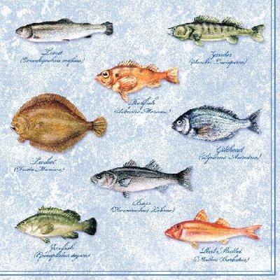 Lunch Servietten Fishes