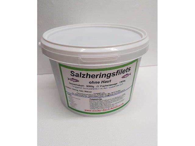 Salzheringsfilets / Einzelfilets ohne Haut im Eimer 1500g