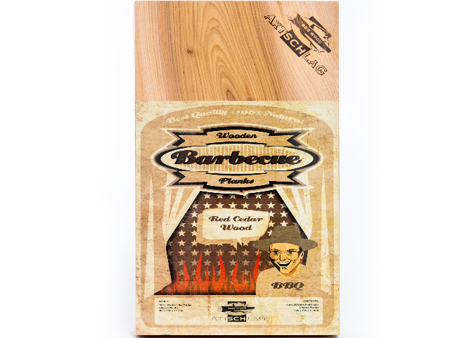 Axtschlag 1 Stück Wood Planks Grillbretter Rotzeder