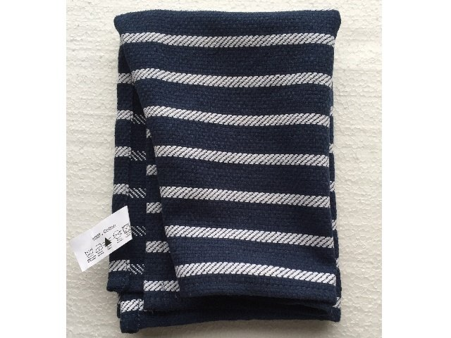Geschirrhandtuch blau weiß gestreift