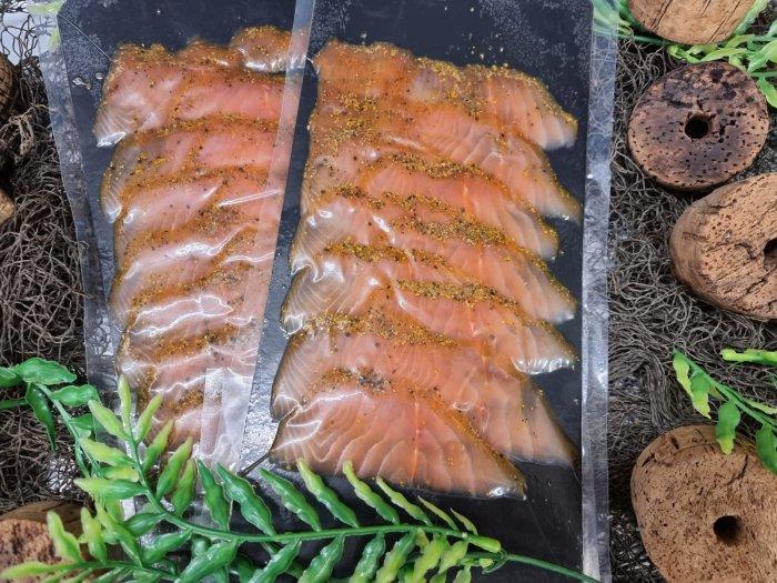 Räucherlachs Orangenpfeffer Sapphire Salmon