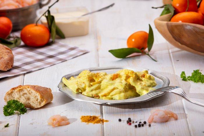 Curry-Garnelen