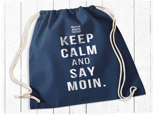 Heimatmeer Gym Bag Keep Calm and say Moin Rucksack