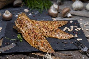Pfeffer-Makrele geräuchertes Makrelenfilet