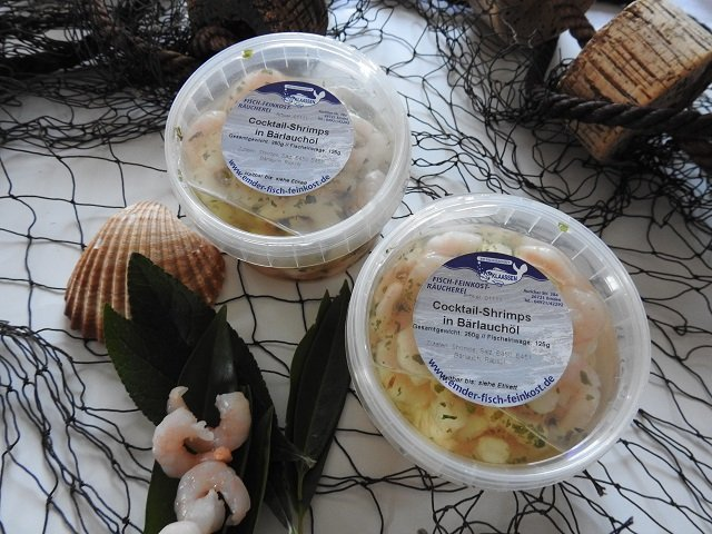 Shrimps in Bärlauchöl